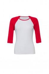 Image 5 of Bella Ladies Baby Rib 3/4 Sleeve Contrast T-Shirt