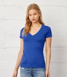Bella Ladies Jersey Deep V Neck T-Shirt image