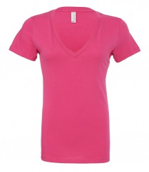 Bella Jersey Deep V Neck T-Shirt image