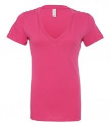 Bella Jersey Deep V Neck T-Shirt image