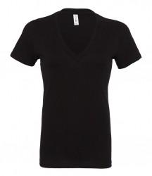 Image 2 of Bella Ladies Jersey Deep V Neck T-Shirt