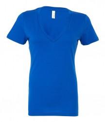 Image 3 of Bella Ladies Jersey Deep V Neck T-Shirt