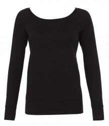 Image 2 of Bella Ladies Tri-Blend Sponge Fleece Wide Neck Sweatshirt