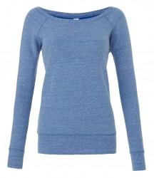 Image 3 of Bella Ladies Tri-Blend Sponge Fleece Wide Neck Sweatshirt