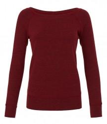 Image 4 of Bella Ladies Tri-Blend Sponge Fleece Wide Neck Sweatshirt