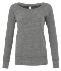 Image 5 of Bella Ladies Tri-Blend Sponge Fleece Wide Neck Sweatshirt