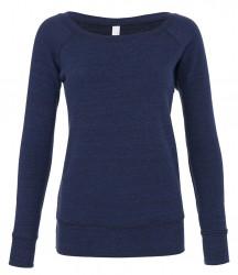 Image 6 of Bella Ladies Tri-Blend Sponge Fleece Wide Neck Sweatshirt