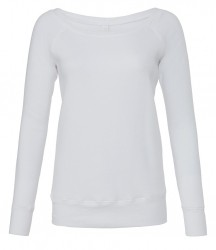 Image 7 of Bella Ladies Tri-Blend Sponge Fleece Wide Neck Sweatshirt