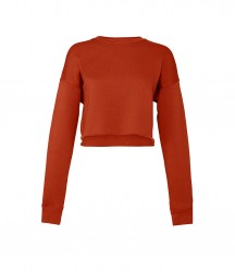 Image 3 of Bella Ladies Cropped Sweatshirt