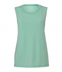 Image 4 of Bella Ladies Flowy Scoop Muscle Tank Top