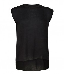 Image 2 of Bella Ladies Flowy Rolled Cuff Muscle T-Shirt