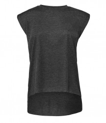 Image 8 of Bella Ladies Flowy Rolled Cuff Muscle T-Shirt