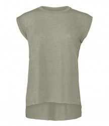 Image 3 of Bella Ladies Flowy Rolled Cuff Muscle T-Shirt