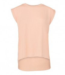 Image 5 of Bella Ladies Flowy Rolled Cuff Muscle T-Shirt