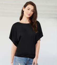 Bella Flowy Draped Sleeve Dolman T-Shirt image