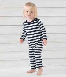 Image 1 of BabyBugz Baby Stripy Rompersuit