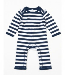 Image 2 of BabyBugz Baby Stripy Rompersuit