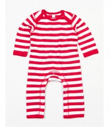 Image 3 of BabyBugz Baby Stripy Rompersuit