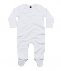Image 3 of BabyBugz Baby Organic Sleepsuit with Mitts