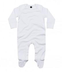 Image 3 of BabyBugz Baby Organic Sleepsuit with Mitts