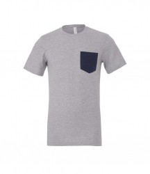 Image 2 of Canvas Contrast Pocket T-Shirt