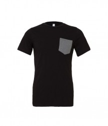 Image 3 of Canvas Contrast Pocket T-Shirt