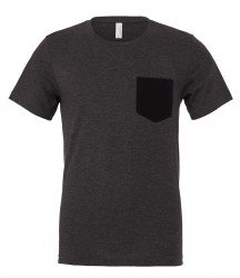 Image 4 of Canvas Contrast Pocket T-Shirt