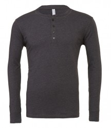 Image 3 of Canvas Long Sleeve Henley T-Shirt