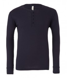 Image 4 of Canvas Long Sleeve Henley T-Shirt