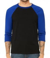 Image 2 of Canvas Unisex 3/4 Sleeve Baseball T-Shirt