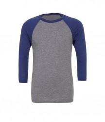 Image 4 of Canvas Unisex 3/4 Sleeve Baseball T-Shirt