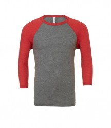 Image 5 of Canvas Unisex 3/4 Sleeve Baseball T-Shirt