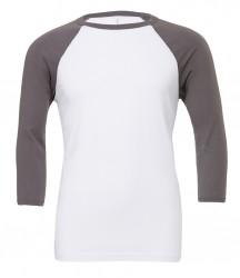 Image 8 of Canvas Unisex 3/4 Sleeve Baseball T-Shirt