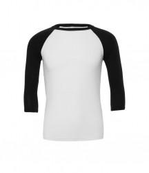 Image 9 of Canvas Unisex 3/4 Sleeve Baseball T-Shirt