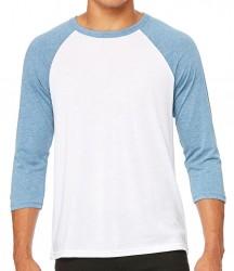 Image 10 of Canvas Unisex 3/4 Sleeve Baseball T-Shirt