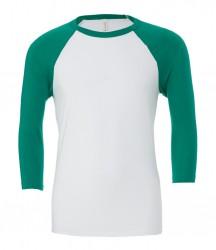 Image 12 of Canvas Unisex 3/4 Sleeve Baseball T-Shirt