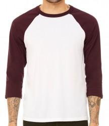 Image 13 of Canvas Unisex 3/4 Sleeve Baseball T-Shirt