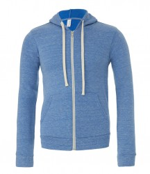 Image 3 of Canvas Unisex Tri-Blend Full Zip Hoodie