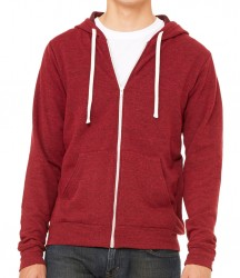 Image 4 of Canvas Unisex Tri-Blend Full Zip Hoodie