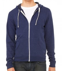 Image 6 of Canvas Unisex Tri-Blend Full Zip Hoodie