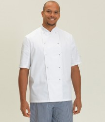 Image 1 of Dennys Short Sleeve Press Stud Chef's Jacket