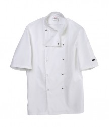 Image 3 of Dennys Short Sleeve Press Stud Chef's Jacket