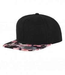 Image 3 of Flexfit Floral Snapback Cap