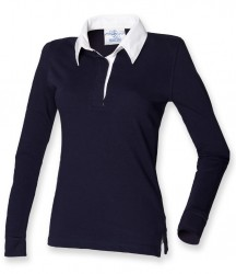 Image 4 of Front Row Ladies Classic Rugby Shirt