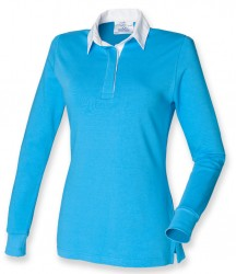 Image 6 of Front Row Ladies Classic Rugby Shirt