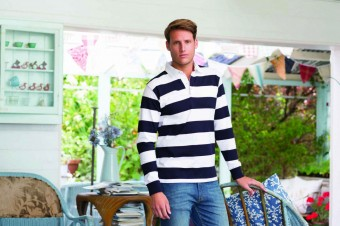 Front Row Striped Rugby Shirt image