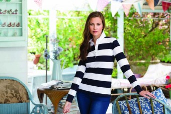 Front Row Ladies Striped Rugby Shirt image