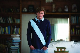 Front Row Diagonal Stripe House Rugby Shirt image