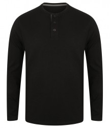 Front Row Washed Long Sleeve Henley T-Shirt image