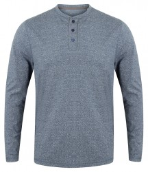 Image 3 of Front Row Washed Long Sleeve Henley T-Shirt